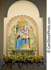 Virgin Mary statue in the church of Macao