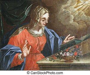 Virgin Mary, The Annunciation