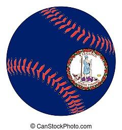 Virginia Flag Baseball