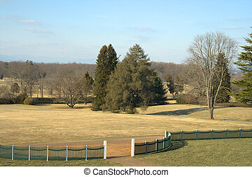 Virginia Landscape - Rolling hills heading toward the...