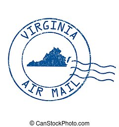 Virginia post office, air mail stamp