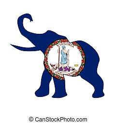 Virginia Republican Elephant Flag