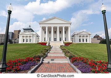 virginia staat capitool, gebouw