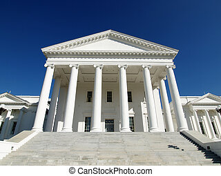 Virginia State House - The classic facad of the Virginia ...