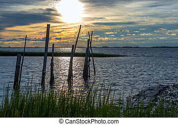 Virginia's Eastern Shore - Sunrise on the Eastern shore of...
