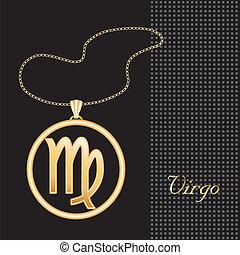 Virgo Gold Necklace