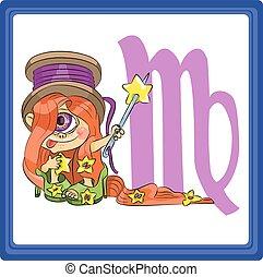 Virgo - the sixth sign of the zodiac horoscope.