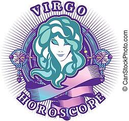 virgo zodiac sign - Vector illustration of magic horoscope...