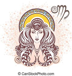 Virgo. Zodiac sign - Zodiac symbol for your design