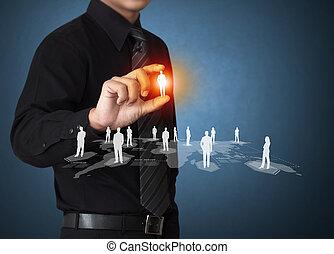 virtual, ícone, de, social, rede
