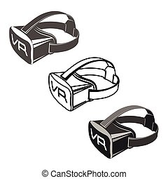 Virtual 3d reality goggles - Virtual 3d reality set goggles...