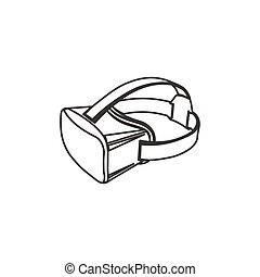 Virtual 3d reality goggles vector illustration