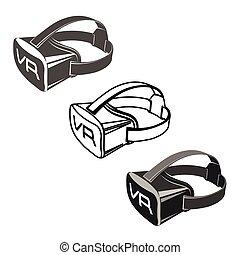 Virtual 3d reality goggles - Virtual 3d reality set goggles...