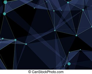 Virtual abstract background with particle, molecule structure. genetic and chemical compounds. creative vector. Space and constellations. Science and connection concept. Social network.