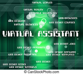 Virtual Assistant Represents Out Sourcing And Assistants -...