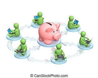 Conceptual image - virtual bank accounts