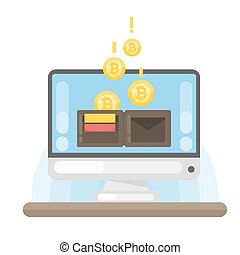 Virtual bitcoin wallet.