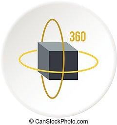 Virtual cube, icon circle