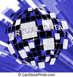 Virtual Data Room Bigdata Computing 3d Illustration Means...