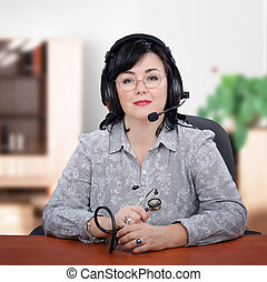 Virtual doctor in headset