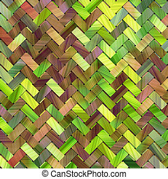 Virtual geometric pattern texture woven mat or rattan, for graphic design.