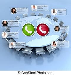 Virtual global meeting