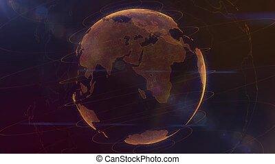 Virtual globe futuristic Earth hologram spinning digital -...