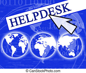 virtual helpdesk - Arrow pointing at virtual helpdesk