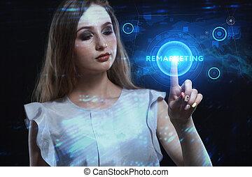 virtual, joven, inscription:, tecnología, remarketing,...