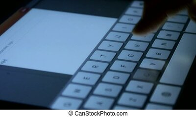 Virtual Keyboard,Typing an email