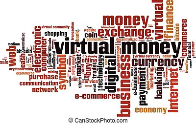 Virtual money word cloud