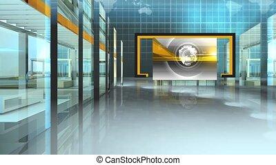 Virtual News Studio Set Background