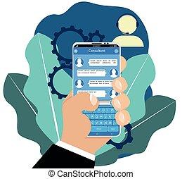 Virtual online assistant.