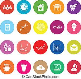 Virtual organization flat icons on white background
