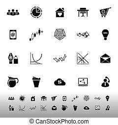 Virtual organization icons on white background