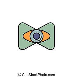 virtual reality cartoon icon - Virtual reality eye cartoon...