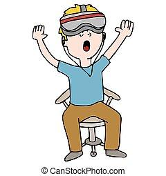 Virtual Reality Experience Man