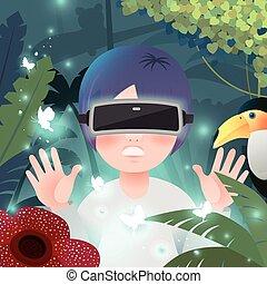 virtual reality flat design