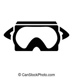 Virtual reality glasses, gaming and entertainment headset icon