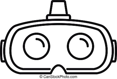 Virtual reality glasses icon, outline style