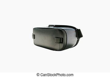 Virtual reality glasses or VR glasses on a white background. The technology of the present and the future