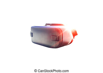 Virtual reality glasses or VR glasses with visual effects. The technology of the present and the future