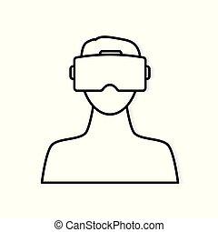 Virtual Reality headset icon
