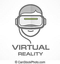 Virtual reality headset man