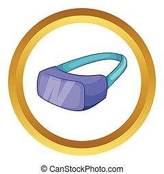 Virtual reality headset vector icon