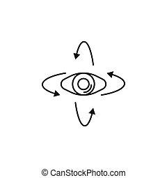 virtual reality icon - Virtual reality eye outline icon. Eye...