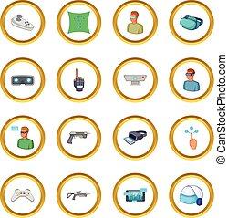 Virtual reality icons circle