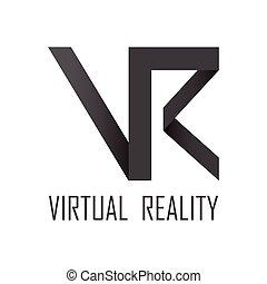 Virtual Reality logotype - Virtual reality glasses logotype...