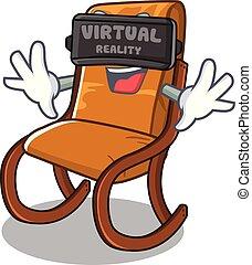 Virtual reality rocking chair in the cartoon shape