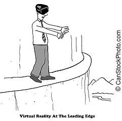 Virtual Reality - Technology cartoon about virtual reality.